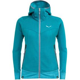 SALEWA Pure Mountain Dry Bluza z zamkiem błyskawicznym Kobiety, niebieski